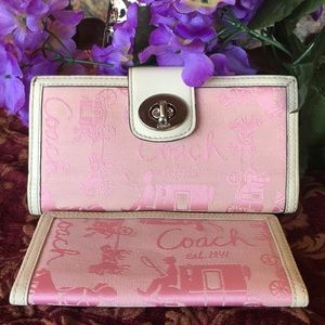 Coach Horse and carriage wallet & Checkbook